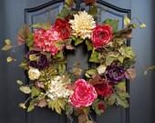 Wreaths, Door Wreaths, Indian Summer Wreath, Summer Fall Wreath, Summer Wreaths, Fall Wreaths, Wreath for Summer, Wreath for Fall