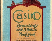 "1920 Casino Theatre Broadway & 39th Playbill-""Betty Be Good"", French Vaudeville Musical Farce-Excellent Condition; Great Vintage Advertising"