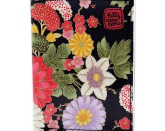 Passport wallet (small) - oriental floral fabric