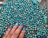 Aqua Blue Two Tone: Real Natural Acai Beads, Brown and Pink, Acai Seeds, Organic Beads, Natural Seeds, South American, Pick your qty