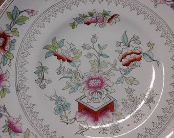 Vintage English Handpainted Cake Stand