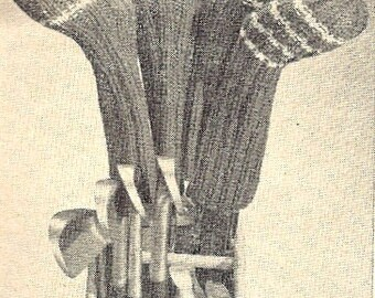 Golf Club Mitts Kitting Pattern Vintage 726115