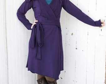Nadia Wrap Jacket - Organic Fabric - Made to Order - Choose Your Color - Dress Coat - Cardigan - Eco Fashion