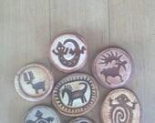 Reserved for Debree Seven Animal rock art Pins