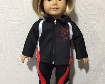 "Cheer Texas Warm-up for American Girl Doll or any 18"" doll"