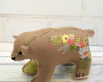 Blossom Bear Pin Cushion pdf pattern instant download