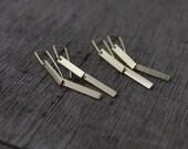 Vermeil 2 legged articulated earrings