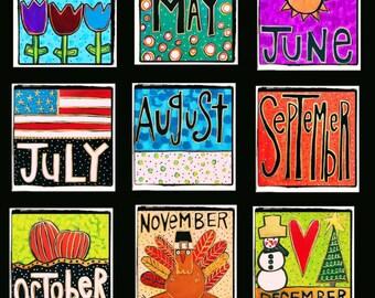 CHALKBOARD with INTERCHANGEABLE CALENDAR Months! Plus Bonus Happy Birthday!