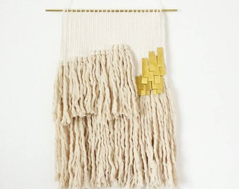 wall hanging woven weaving / oro, 1 weaving / hand woven wall art tapestry
