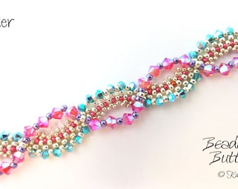 Meander Bracelet Tutorial - RAW Beadweaving Pattern Digital Download