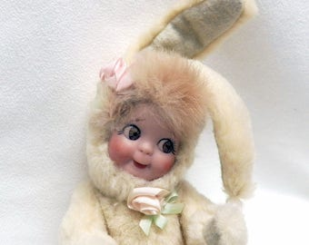 Artist Doll Reproduction  Bunny  Googly Vintage