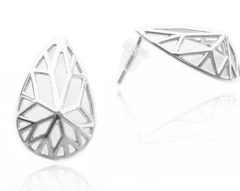 Geometric Earrings, Pear Shaped Earrings, Post Earrings, Pear Shaped, Bridal Earrings, Contemporary Earrings, Earrings, Free Shipping