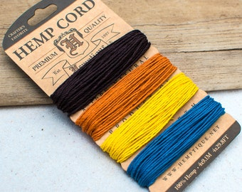 Colored Hemp Twine, 1mm,   20lb,  Hemp String -CH45