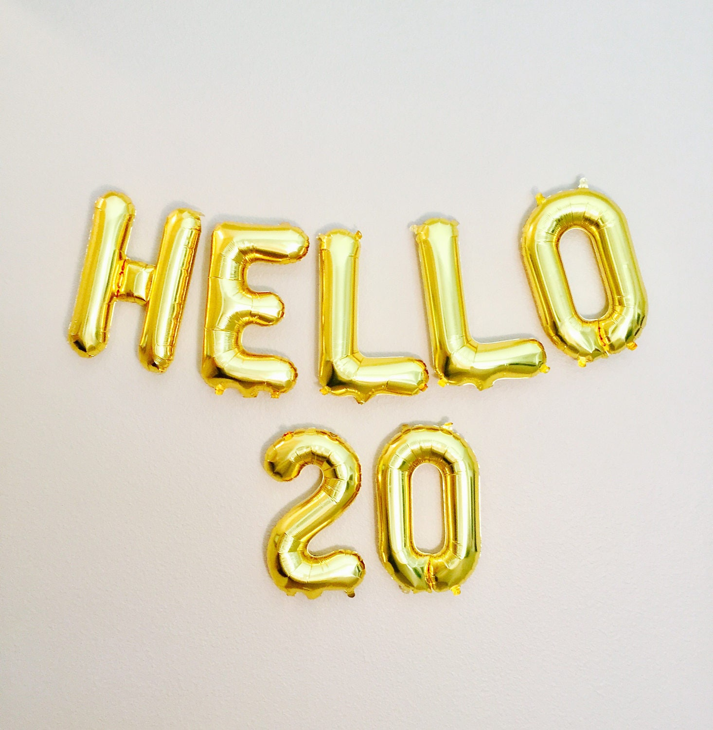 Happy Birthday 20th Quotes: HELLO 20 Balloons 20th Birthday 20th Anniversary 20