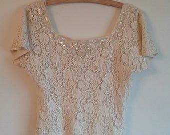 Vintage Top • Lush Lace • 1960s