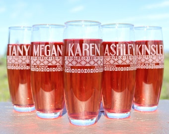 Bridesmaid Champagne Glasses, Stemless Champagne Flute, Getting Ready Wedding