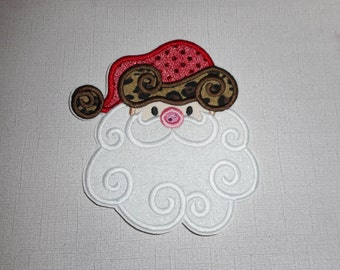 Free Shipping Ready to Ship   Santa Machine Embroidery iron on applique
