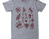 Texas State T-Shirt - Mens TX Graphic Tee - Retro Fun Lone Star Texas Shirt, Southwest Tee