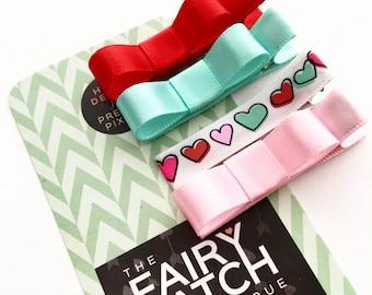 Valentines Day hair clips, Valentine, Girls hair clips, toddler hair clips, baby hair clips, kids hair clips, baby gift, girls hair bows
