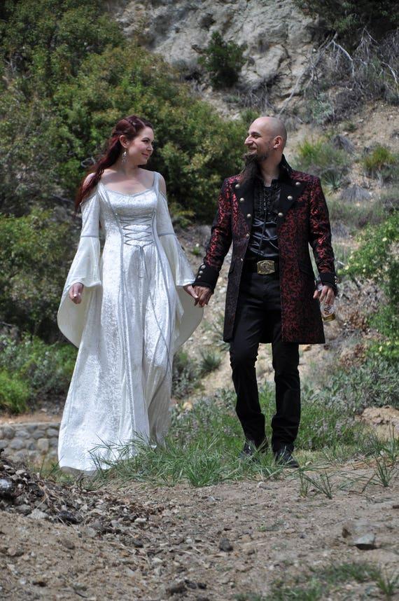medieval wedding dress renaissance gown elvish wedding