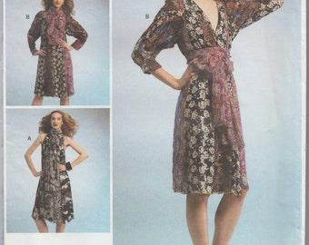 Vogue 1301 / Designer Sewing Pattern By Koos Van Den Akker / Dress / Sizes Extra Small To Medium