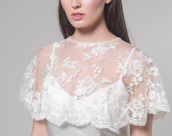 Sample Sale, Lace Bridal Cape, Bridal Capelet, Bridal Cover Up, Bridal Separates, Lace Capelet, Bridal Lace Capelet, Lace Cape
