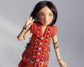 handmade porcelain bjd, ball jointed art doll Kai, little minion doll by lady meow
