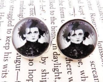 Edward Scissorhands Lever Back Earrings