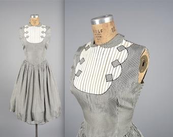 1960s sleeveless gingham dress • vintage 60s dress • summer day dress (SH)
