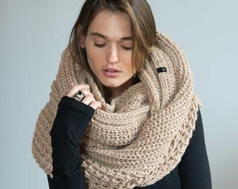NEW Chunky Shawl / Wool Scarf / Infinity Scarf / Loop Scarf / Extra Long Scarf / Winter Scarf / Marcellamoda k   - MA0402