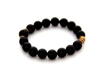 Black Onyx Bracelet - Essential Oil Bracelet