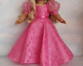 18 inch doll clothes - Pink Princess Gown handmade to fit the American Girl Doll