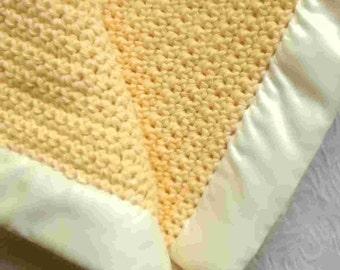 Golden Yellow 100% Cotton Baby Blanket