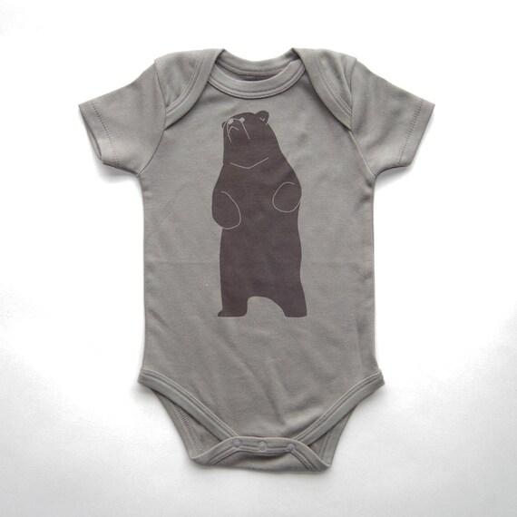 Organic Cotton Baby Bear Bodysuit Unisex Baby by eleventyfive
