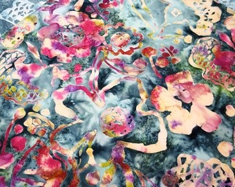 Floral Placemats  - Reversible Placemats - Batik Placemats - Tropical Placemats - Spring Placemats - Summer Placemats - Set of 2, 4 , 6