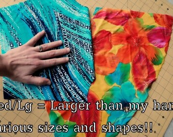 Lycra Spandex Fabric - Scrap Fabric  - Small or Medium Large scraps - doll clothes - Arts and crafts - patterns - prints -