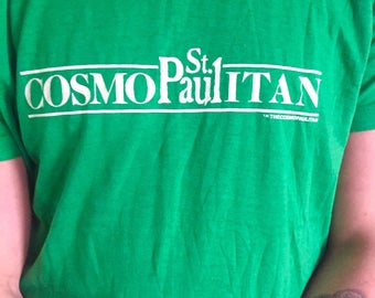 Vintage St. Paul Cosmopaulitan Super Soft Green Tee // 1980s