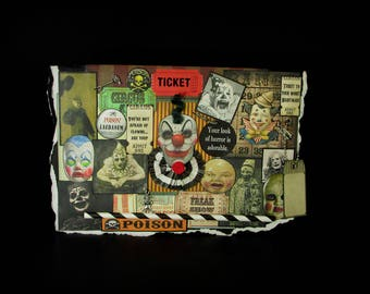 Blank Clown Card, Creepy Clown Card, Scary Clown Card, Clown Card, 97, Vintage Clown Images, Circus Clown, Creepy Decoration,  Blank Greetin