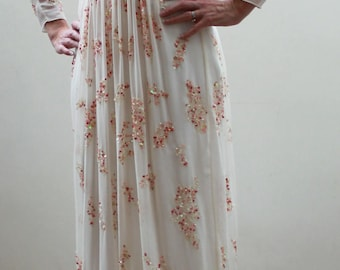 Vintage Chiffon Beaded Dress