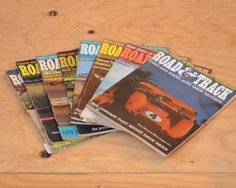 Vintage Set Of Eight 1968 Road & Track, Classic Collector Car Magazines