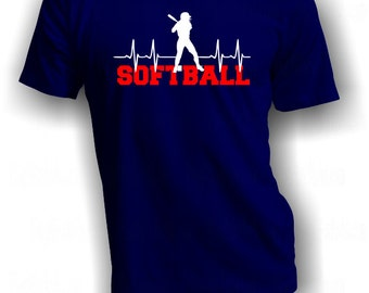 Softball Batter Up - Heartbeat Softball Shirt - Live for Softball Shirt - Softball Slugger T-Shirt - Softball Life Tee - Softball Lover Tee