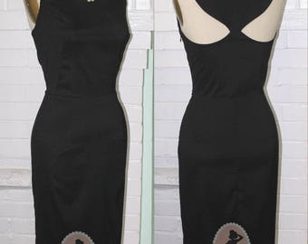Tiffanys Breakfast Dress Full Length or Below The Knee- Cutout Back- Size LARGE Ready to Ship