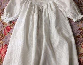 Vintage Baby Dress White 19th Century Toddler Dress
