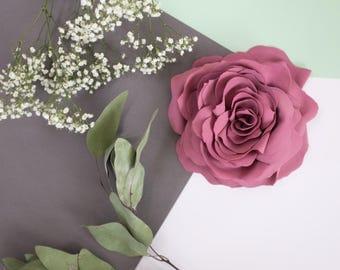 Dusty rose, dusty pink flower pin, brooch, handmade, fabric