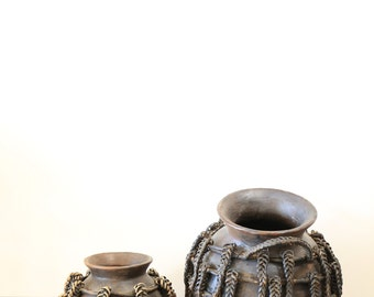 Antique Big and Small Wooden Water Vessel