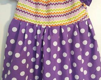 Purple polkadot dress