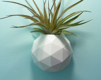 Geodesic Triangle Wall Planter - Modern Plant Holder Air Plant Holder - Indoor Planter - Outdoor Planter