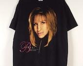 XL Barbra Streisand MGM Grand Garden concert t-shirt 1994 90's black T Shirt Logo Portrait Design graphic Tee unisex oversize 48 chest