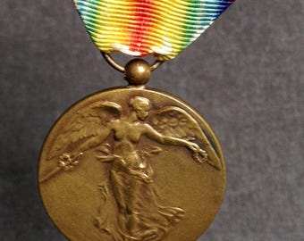 Victory medal 1914-1918. World War militaria allied award souvenir.