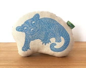 Decorative possum pillow // childs cushion // Sugar Glider cushion // animal softie